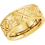 Etruscan Style Wedding Band in 18k Yellow Gold
