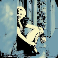 Peekaboo Marilyn Fine Art Lithograph