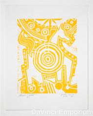 Target Horse Yellow Edition Linocut Block Print Mark T Smith