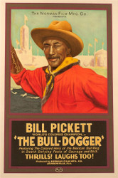 The Bull Dogger Fine Art Poster Lithograph
