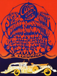 Cosmic Car Show Lithograph by Stanley Mouse