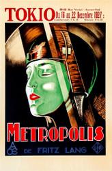 Metropolis 1927 Tokio  Movie Poster Lithograph