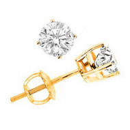 14K Gold Brilliant Cut Diamond Martini Stud Earrings 0.35 CTW