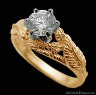 14K Yellow Gold Nenya Ring
