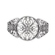 Sterling Silver Filigree Open Cuff Bracelet