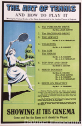 The Art of Tennis Lithograph