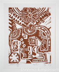 Dendur Linocut Print by Mark T. Smith
