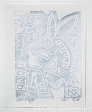 Rabbit Linocut Print by Mark T. Smith