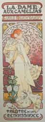 Alphonse Mucha La Dame Aux Camelias 3 Sheet Lithograph