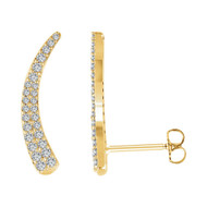 3/8 CTW Diamond Ear Climbers in 14K Gold