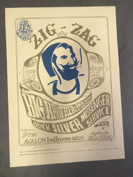 Zig Zag Man Lithograph by Stanley Mouse and Alton Kelley