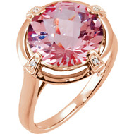 14K Rose Gold Morganite 0.25 CTW Diamond Ring