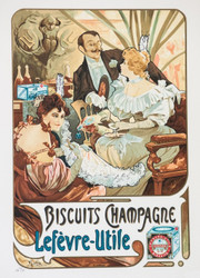 Alphonse Mucha Biscuits Champagne Lefvre-Utile