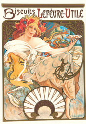 Alphonse Mucha Biscuits Lefvre-Utile