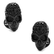 Black Fatale Skull Cufflinks Sterling Silver