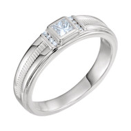 1/3 CTW Diamond Men's Platinum Ring
