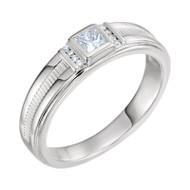 1/3 CTW Diamond Men's Platinum Ring