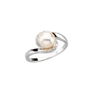 Freshwater Cultured Pearl and 1/10 CTW Diamond 14K White Gold