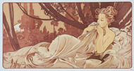 Alphonse Mucha Dusk Panel Fine Art Lithograph