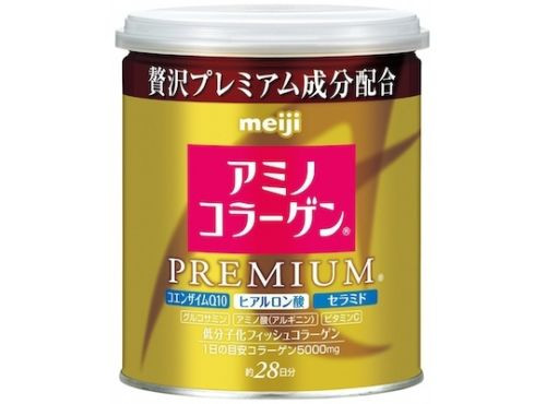 New Meiji Amino Collagen Powder Premium Can 200g 28days
