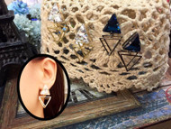 Double Triangle Earrings