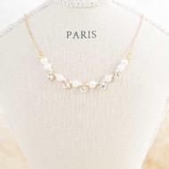 Fake Pearl Diamond Necklace
