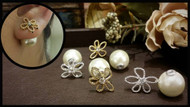 Elegant Flower Pearl Earrings