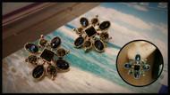 Squared Crystal Earrings