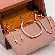 Four Pieces Gold Bracelet Set