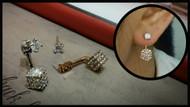 Small Crystal Drop Earrings