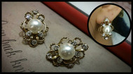Embedded Pearl Earrings