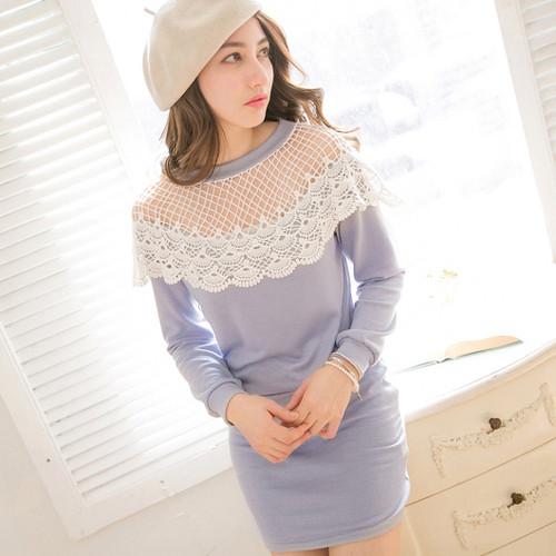 Crochet Lace Waisted Dress