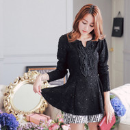 Chest Lace Sequin Blouse