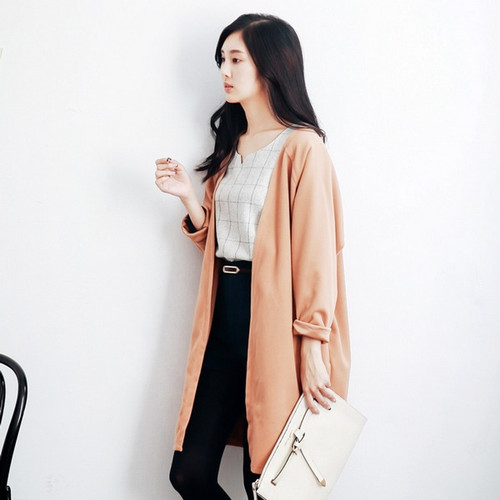 Rotator Cuff Woolen Cardigan Long Coat