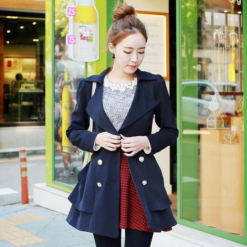 Korea Style Waist Trench Coat