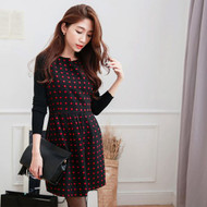 Polka Dot Wool Dress