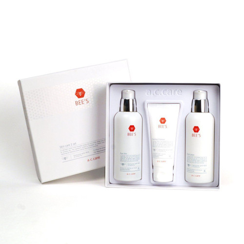 A.C.Care Bee's Trouble Skin Care Set- Skin, Lotion, Foam Cleanser (3Pcs)