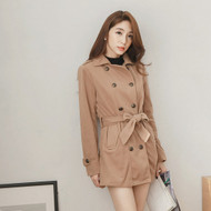 Double-Breasted Woolen Coat