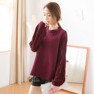 Hollow Embossed Wool Shirt