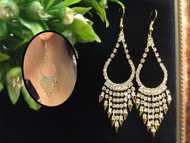 Elegant Bling Bling Drop Earrings