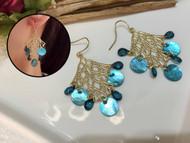 Cute Gold Mesh Drop Earrings