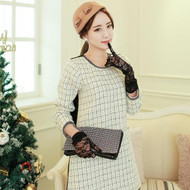 Lady Coco Style Tweed Dress