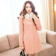 Cute Candy Color Hooded Coat