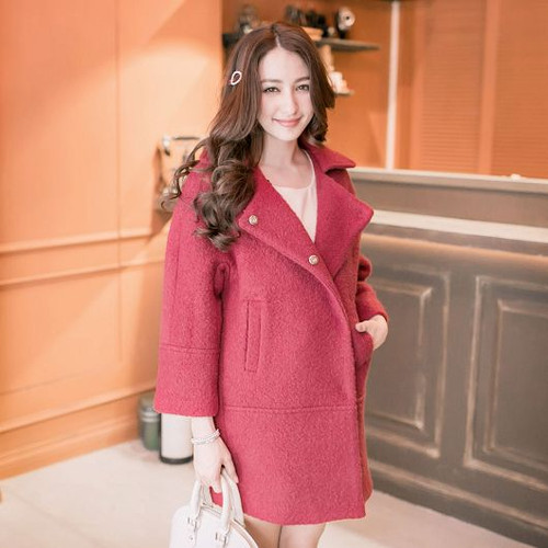 Back Pleat Wool Coat