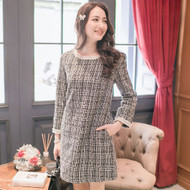 Chain Trim Wool Dress