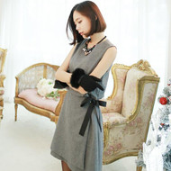 Bow Tie Decoration Vest Dress