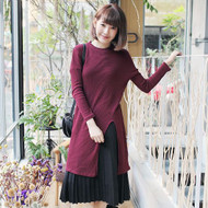 Long Slits Knit Top