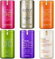 SKIN79 Super Plus BB Cream Series - Hot Pink, VIP Gold, Orange, Snail, Purple, Green