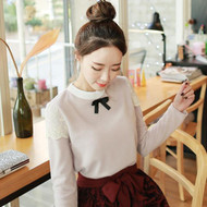 Round Collar Lace Decorative Top