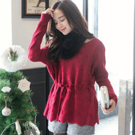Belted Knit Sweater